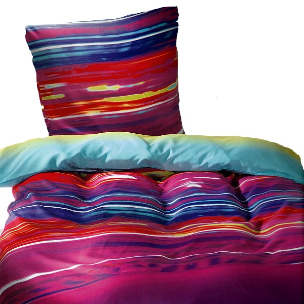 bettw sche color regenbogen bunte farben mikrofaser 135x200cm b gelfrei ebay. Black Bedroom Furniture Sets. Home Design Ideas