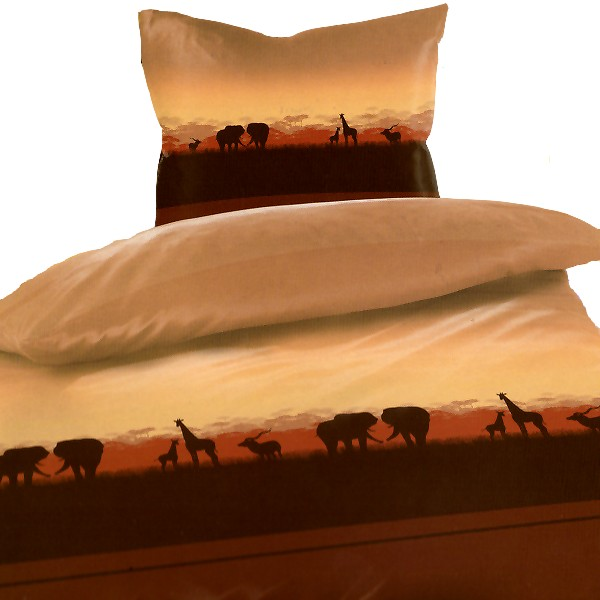 afrika tansania wildlife erdfarben mikrofaser bettw sche 135x200cm ebay. Black Bedroom Furniture Sets. Home Design Ideas