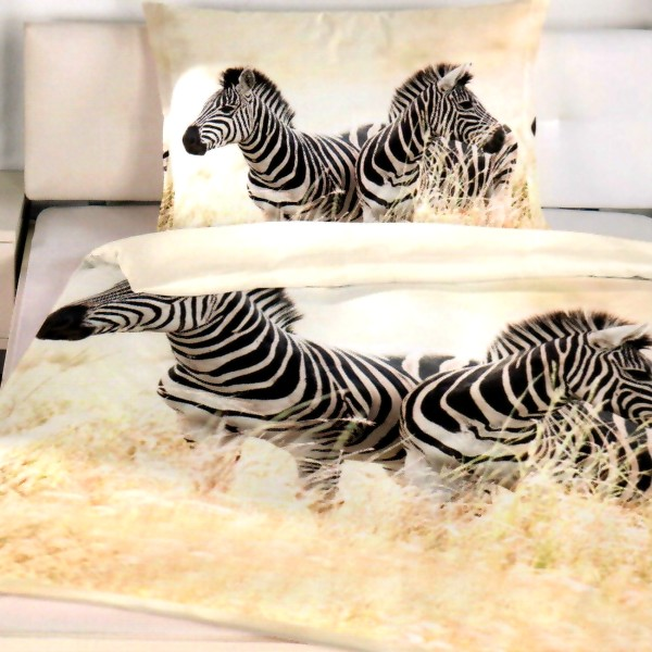 afrika style zwei zebras wei schwarz beige mikrofaser bettw sche 135x200 cm ebay. Black Bedroom Furniture Sets. Home Design Ideas