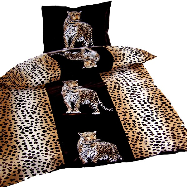 afrika safari leoparden mikrofaser bettw sche neu ebay. Black Bedroom Furniture Sets. Home Design Ideas