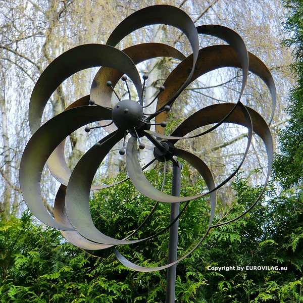 windrad alina gro es metall windspiel gartenstecker h he 180cm 30cm gartendeko ebay. Black Bedroom Furniture Sets. Home Design Ideas